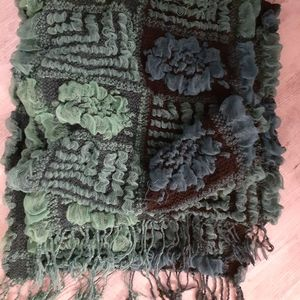 Beautiful green and blue detailed scarf